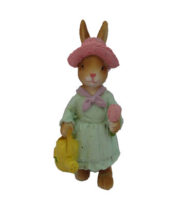 Easter Littles Resin Rabbit with Hat