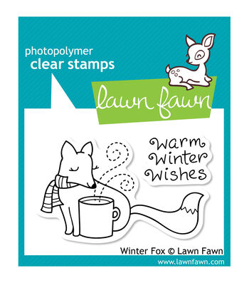 """Lawn Fawn Clear Stamps 3""""X2""""-Winter Fox"""