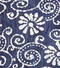 Speciality Cotton Gauze Fabric 41\u0027\u0027-Floral on Blue