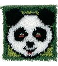 Wonderart Latch Hook Kit 8\u0022X8\u0022-Panda