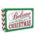 Maker\u0027s Holiday Table Decor Block-Believe Magic