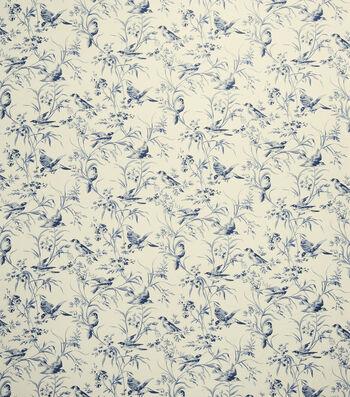 "French General Upholstery Fabric 54""-Bird Rot/Indigo"