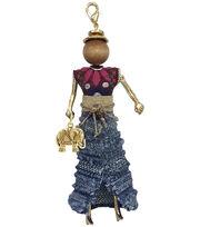 Laliberi Bohemian Doll Pendant-Ruffle Denim Skirt Meadow, , hi-res