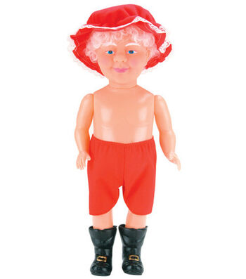 "Darice 13"" Plastic Santa Doll-Mrs. Claus"