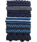 Trim Multi Pack Blue Multi 6 Designs 1 Yard Each