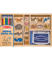 Melissa & Doug Animal Stamp Set, , hi-res
