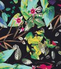 Basan Fashion Apparel Fabric-Sateen Fabric Tropical Black