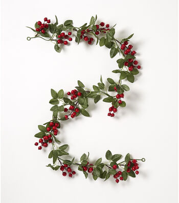 Blooming Holiday Christmas 66'' Large Berry & Sparse Leaf Garland