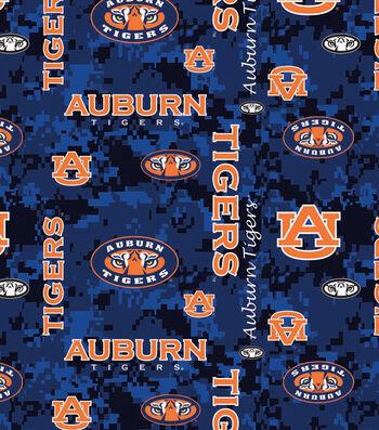 """Auburn University Tigers Fleece Fabric 60""""-Digital Camo"""