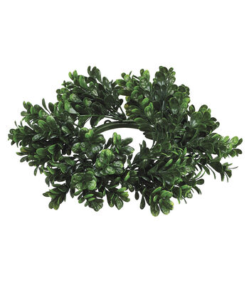 """4"""" Boxwood Candle Ring-Green"""