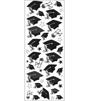 EK Success Puffy Classic Stickers-Graduation