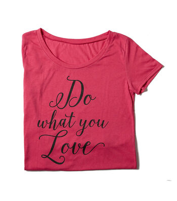 T-Shirt L/XL-Do What You Love on Pink