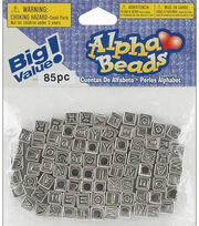 Big Value! Alpha Beads-Silver Plated, , hi-res