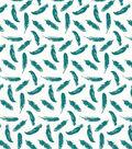 Quilter\u0027s Showcase™ Cotton Fabric 44\u0022-Deep Lake Feathers On White