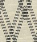 Nate Berkus Upholstery Fabric-Wareham Black/Bone