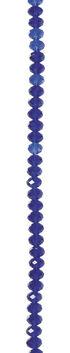 7\u0022 Bead Strands - Sapphire Blue Crystal Rondelles, 6 x 8mm
