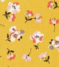 Silky Rayon Fabric 53\u0022-Pink Flowers