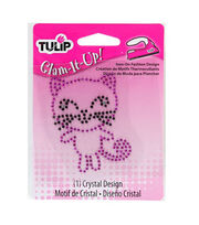 Tulip® Glam-It-Up!™ Iron On Crystal Design-Kitty/Small, , hi-res