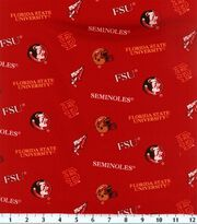 "Florida State University Seminoles Cotton Fabric 43""-All Over, , hi-res"
