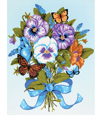 Dimensions Paint By Number Kit Pansy Bouquet
