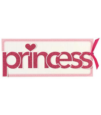 Anna Griffin Princess Diecut Word Custom Invitation