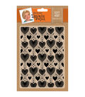 Leonie Pujol 5\u0027\u0027x7\u0027\u0027 Embossing Folder-Dotty Heart