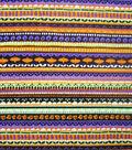 Halloween Cotton Fabric 43\u0022-Spooky Stripes
