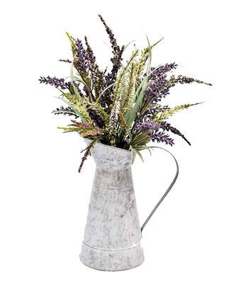 Fresh Picked Spring 13'' Lavender Arrangement in Watering Can-Purple