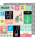 American Crafts Sunshine & Good Times Cardstock-Officially Cut out