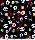 Novelty Cotton Fabric 43\u0027\u0027-Soccer Ball