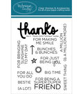 Technique Tuesday Thanks Clear Stamps