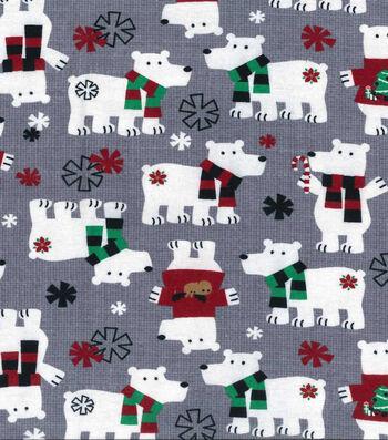 "Maker's Holiday Fleece Fabric 43""-Polar Bears"