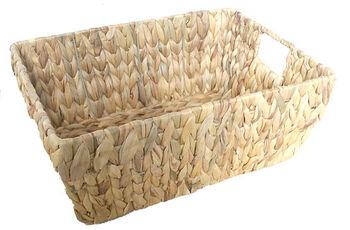 Organizing Essentials™ Rectangle Water Hyacinth Basket