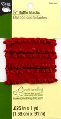 Dritz 5/8\u0022  Ruffle Elastic Red 1 Yd