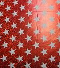 Cosplay by Yaya Han Stretch Fabric 58\u0022-Superhero Metallic Stars Red