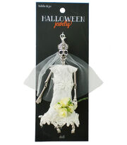 hildie & jo™ Halloween Bride Skeleton Doll Silver Pendant, , hi-res