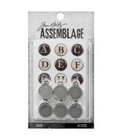 Tim Holtz® Assemblage Typewriter Keys Charms, , hi-res