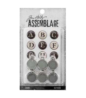 Tim Holtz® Assemblage Typewriter Keys Charms