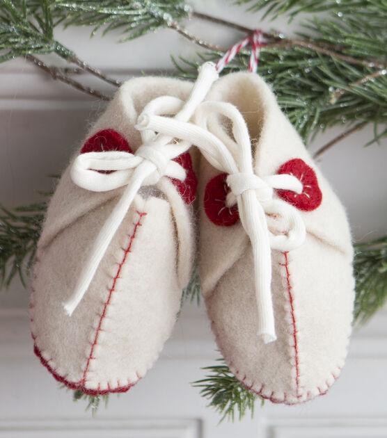 Hand Sewn Felt Baby Booties, , hi-res