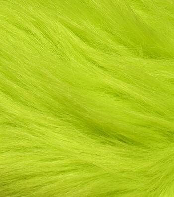 "Fashion Faux Fur Fabric 59""-Lime Green"