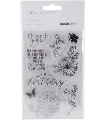 """Lilac Whisper Clear Stamps 6""""X4"""""""