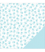 American Crafts Baby Boy Hands Double-Sided Cardstock, , hi-res