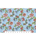 Snuggle Flannel Fabric 42\u0022-Blooming Flowers Light Blue