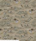 Snuggle Flannel Fabric 42\u0022-Woodland Springer