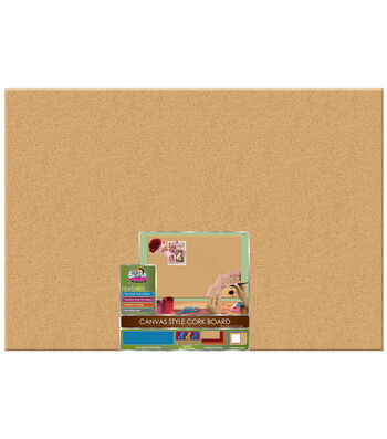 The Board Dudes™ 24''x36'' Unframed Canvas Style Cork Board