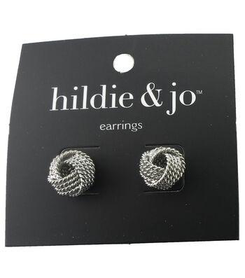 hildie & jo™ Knot Silver Earrings