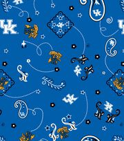 "University of Kentucky Wildcats Cotton Fabric 44""-Bandana, , hi-res"