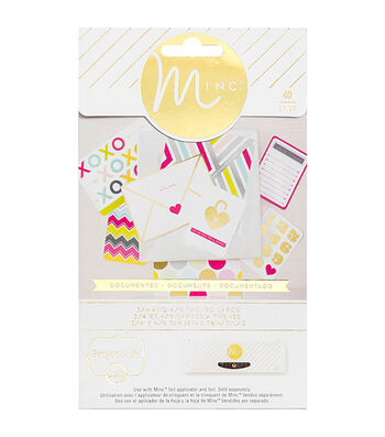 "Minc Project Life Themed Cards 40/Pkg-Documented (16) 4""X6"" & (24) 3""X5"""