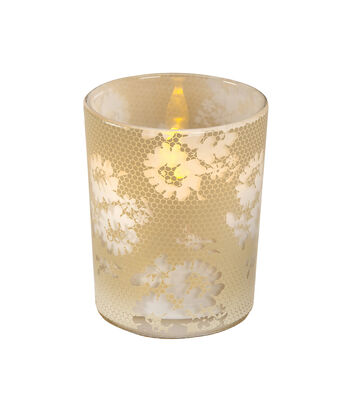 David Tutera™ 12 Pack 2.63'' Glass Votives-Lacy Honeycomb & Floral