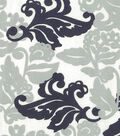 Quilter\u0027s Showcase™ Fabric 43\u0027\u0027-Navy & Gray Floral Leaves